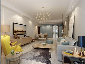 140平北欧风格三室装修,小清新的生活空间!