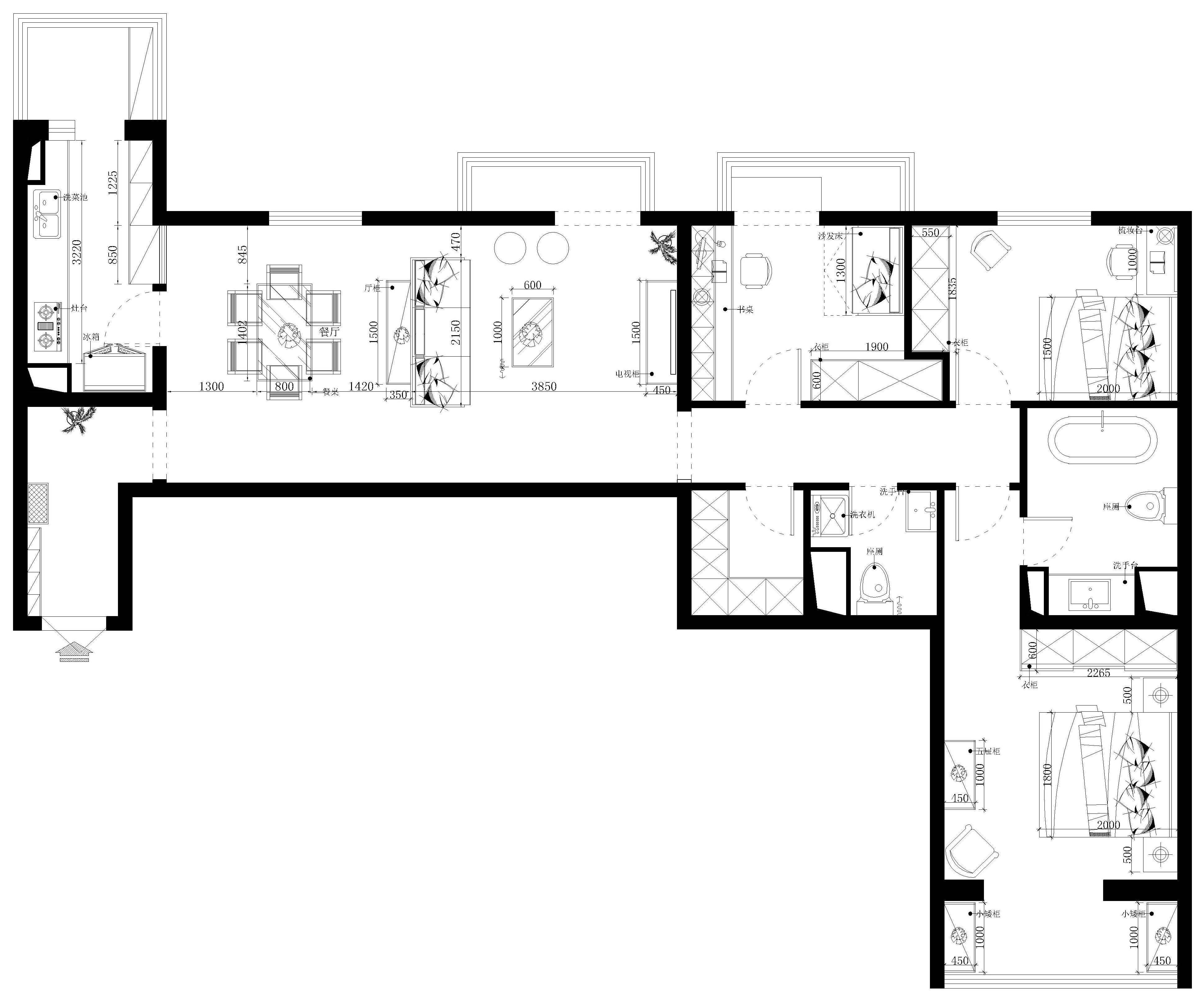 都汇华庭 简美风格 120平米装修设计理念