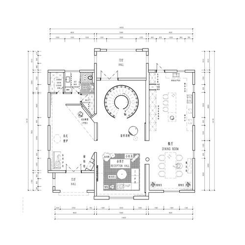 南广自建-500m²-后现代风格装修设计理念