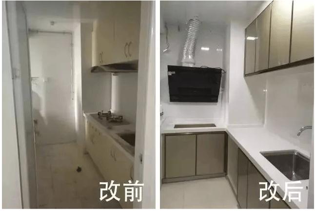二手房翻新_厨房改造前后对比_注意事项