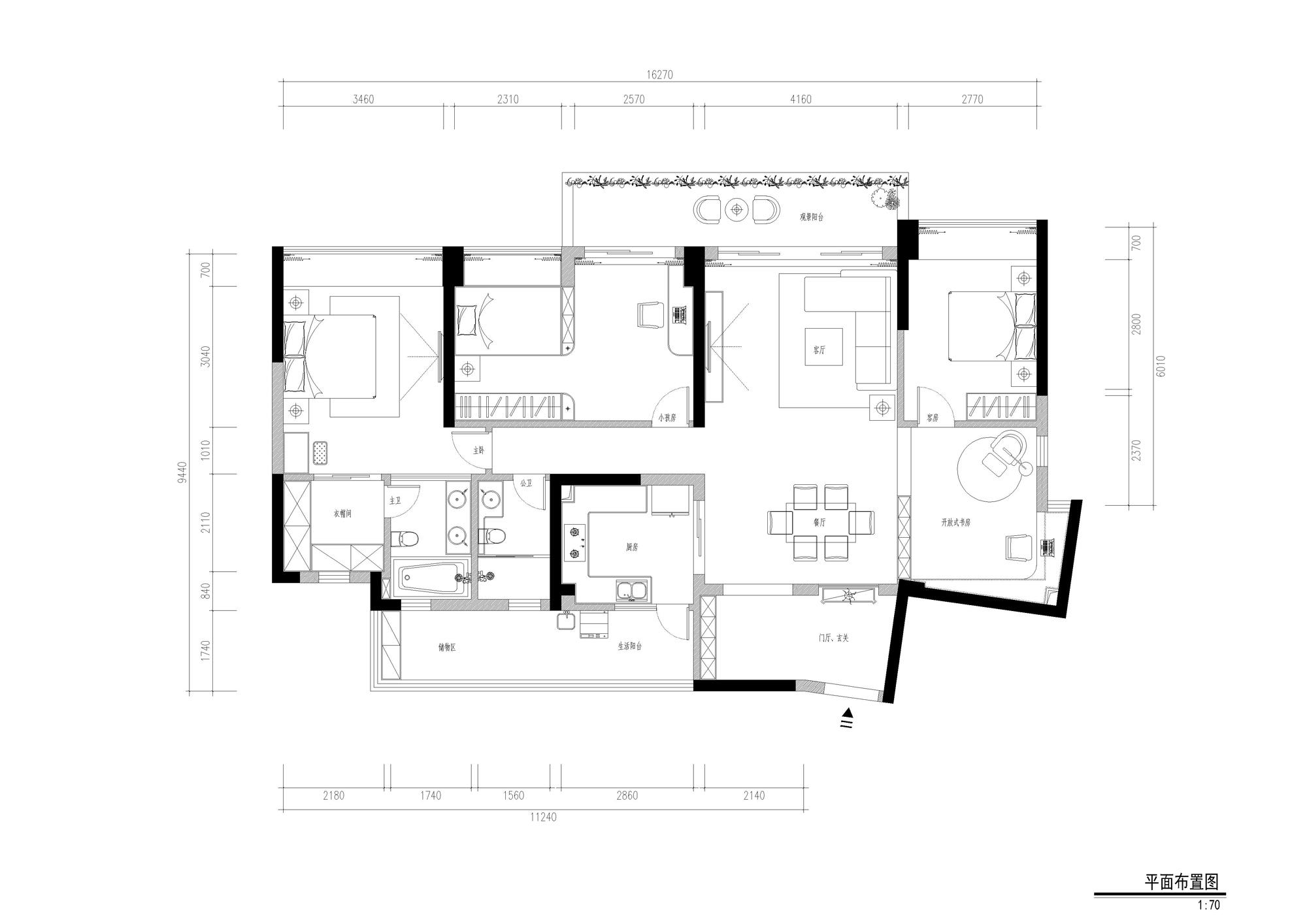 布吉可园165平米-现代简约装修设计理念
