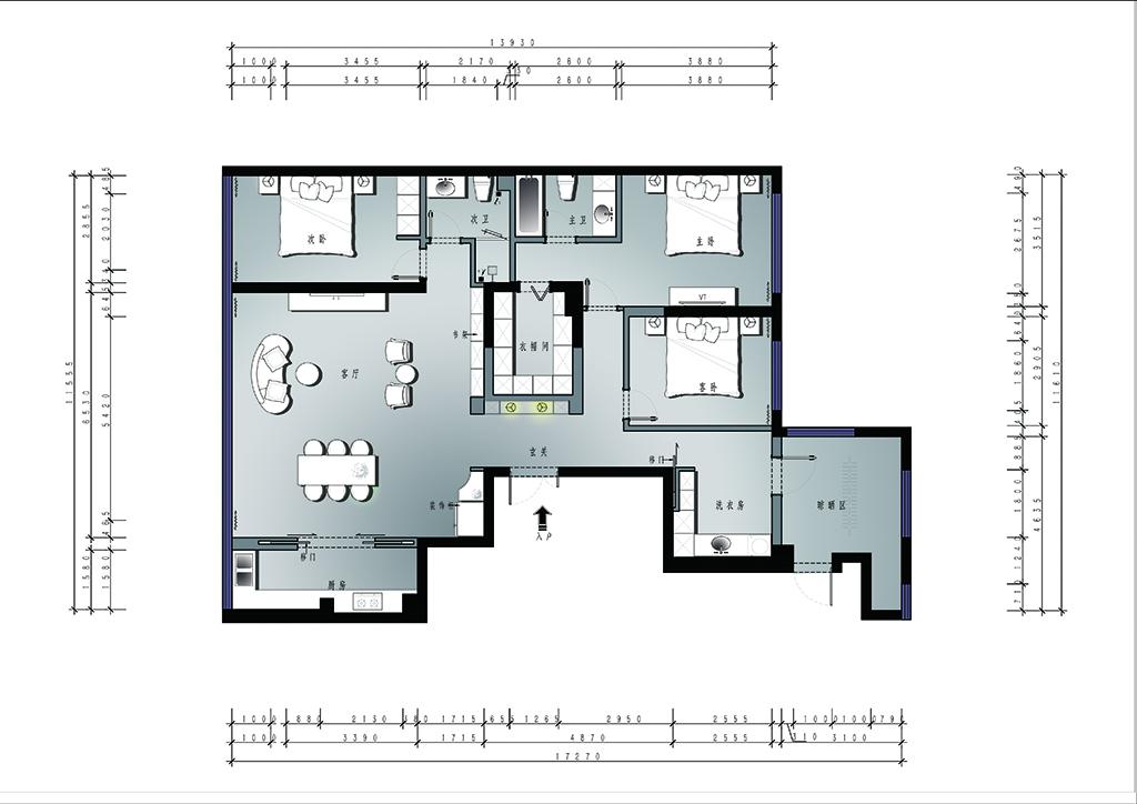 碧桂园-法式轻奢-170平装修设计理念