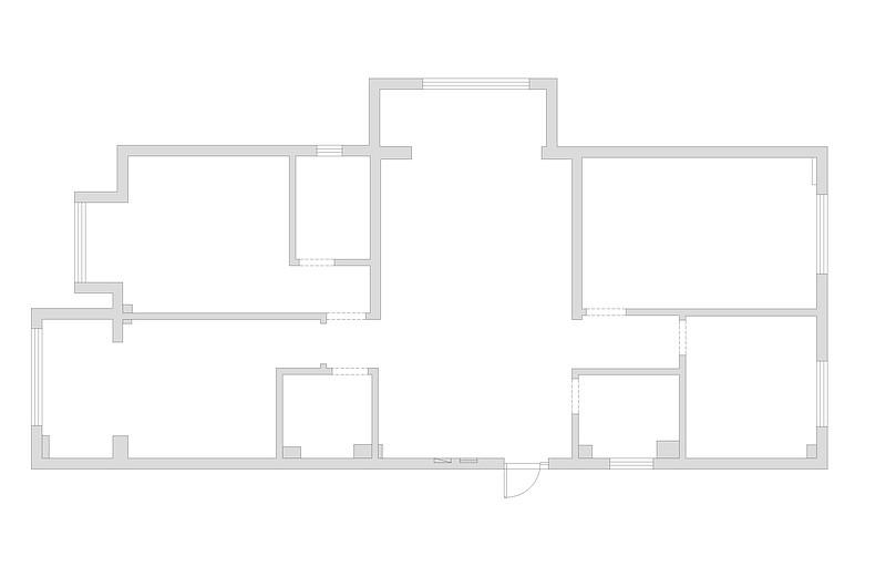 原平中央时代广场简美130平米装修效果图
