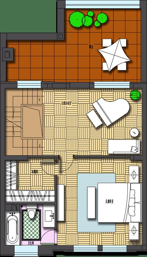 孔雀城-法式-320平米装修设计理念