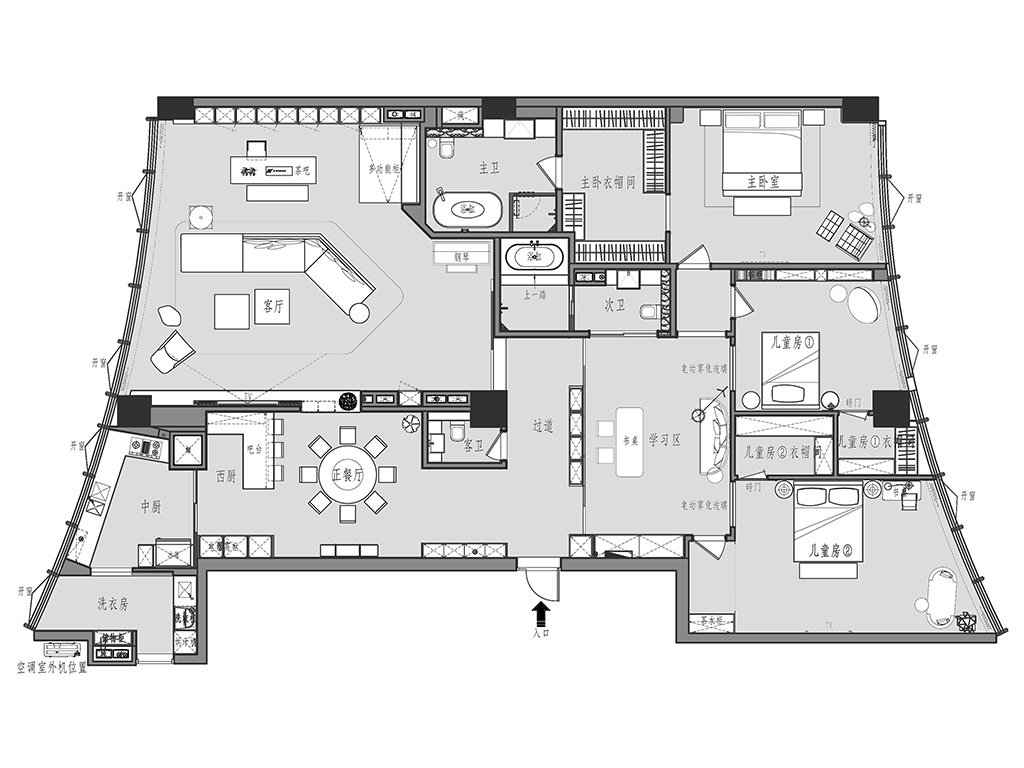 云墅280平现代简约装修设计理念