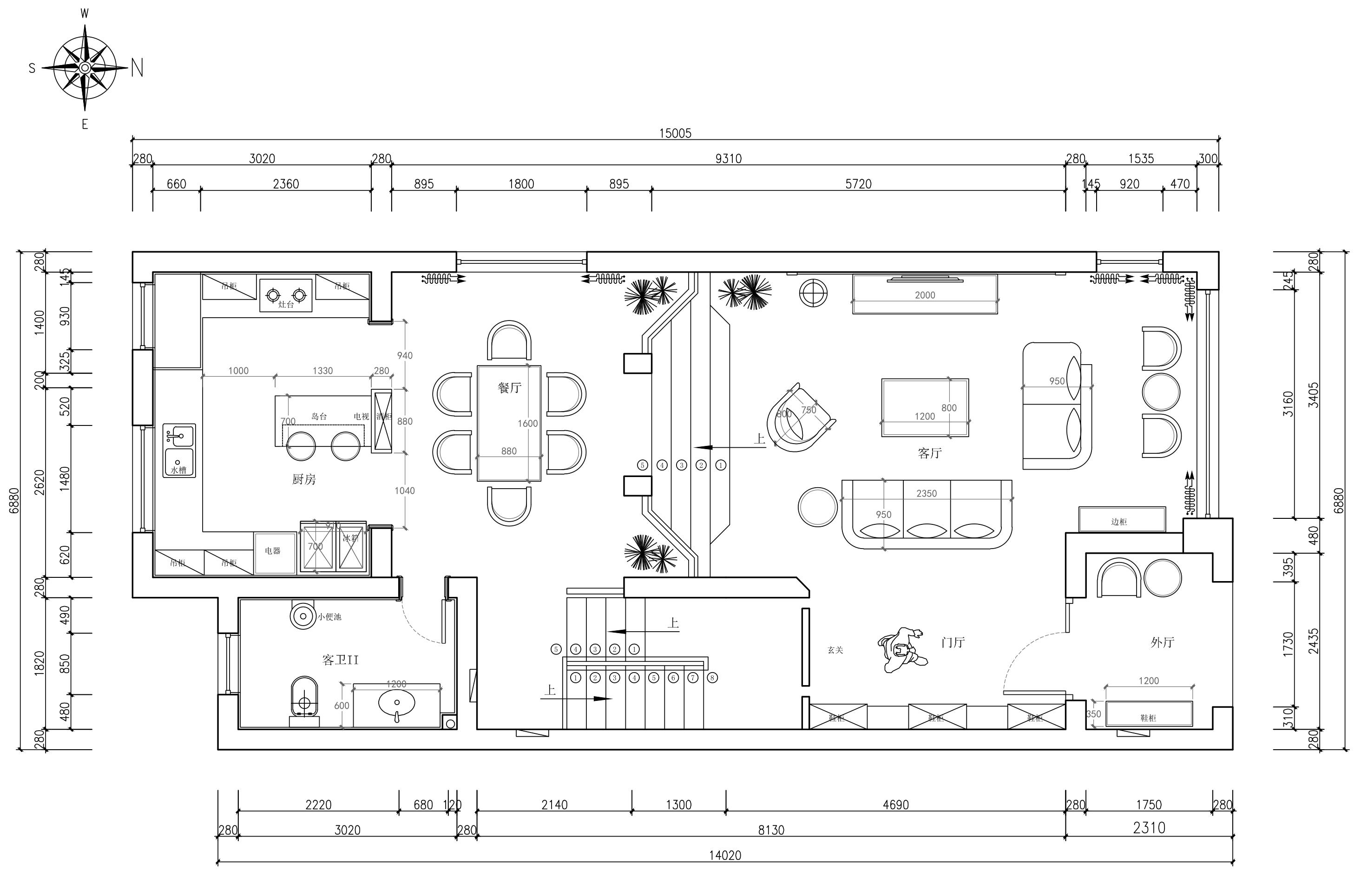 鸿景庄园360m2现代风格效果图装修设计理念