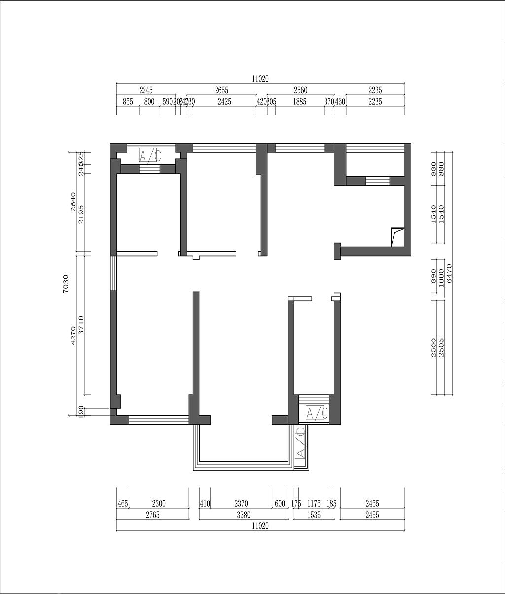 大族云峰-北歐現代風格-89㎡裝修效果圖裝修設計理念
