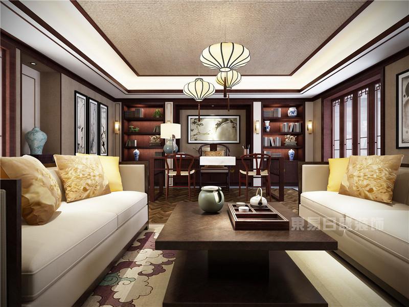 丰华悦园-380㎡-欧式古典风格-别墅-会议室(图11)