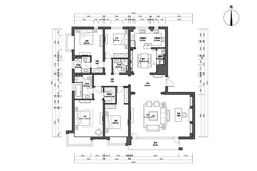 御景新世界267平欧式风格案例装修设计理念