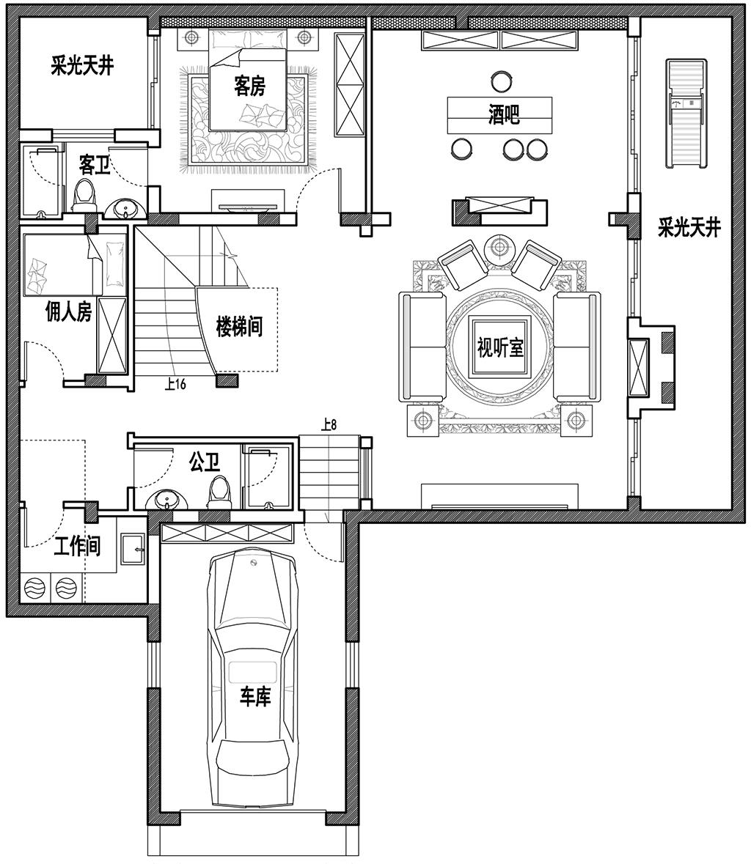 白金汉宫400平美式乡村效果图装修设计理念
