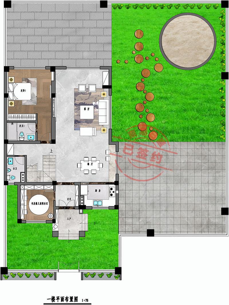 东坑碧桂园别墅一层平面图