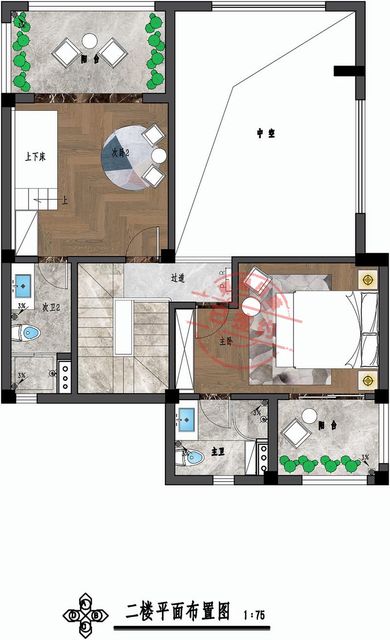 东坑碧桂园别墅二层平面图