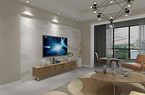 136㎡四居室现代简约风格装修效果图解析