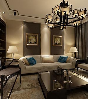 140平新中式风格三室装修,古典质朴且具有时尚感!