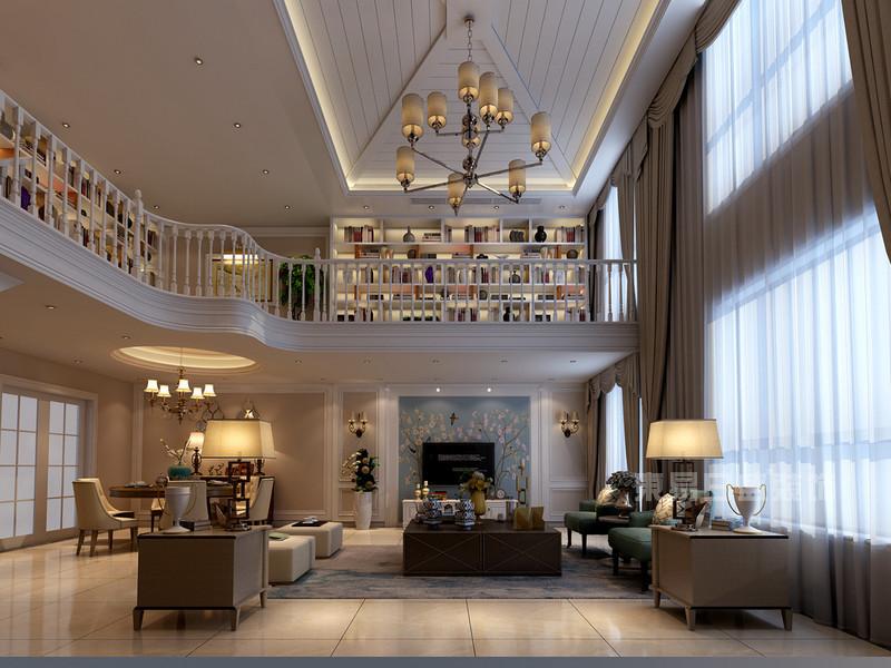 210平米复式房装修样板间,用美式风格打造出来的奢华