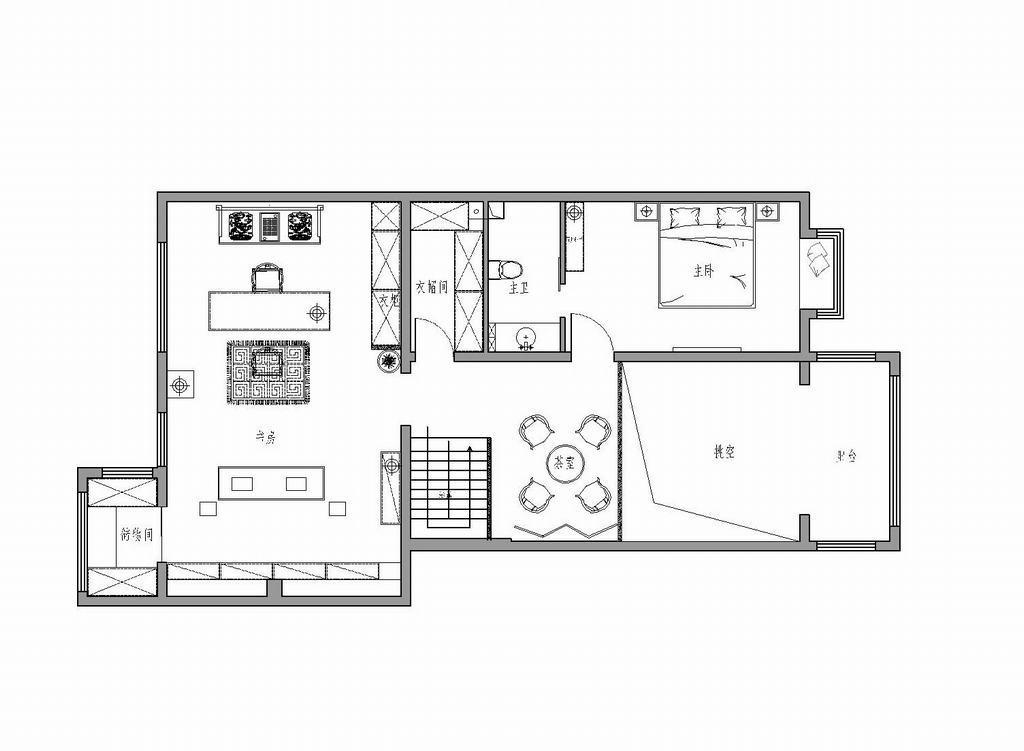 天通中苑-220平米-新中式装修设计理念