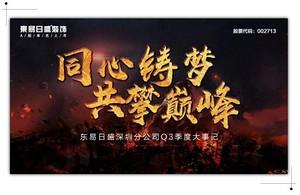 2017年东易日盛深圳分公司Q3总结暨Q4工作计划大会