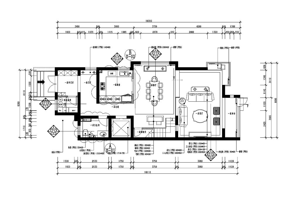 靠山居艺墅-欧式古典-600㎡装修设计理念