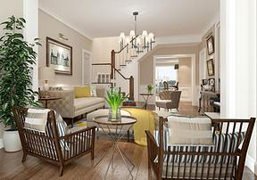 高端别墅装修设计 5个窍门让你装出舒适客厅