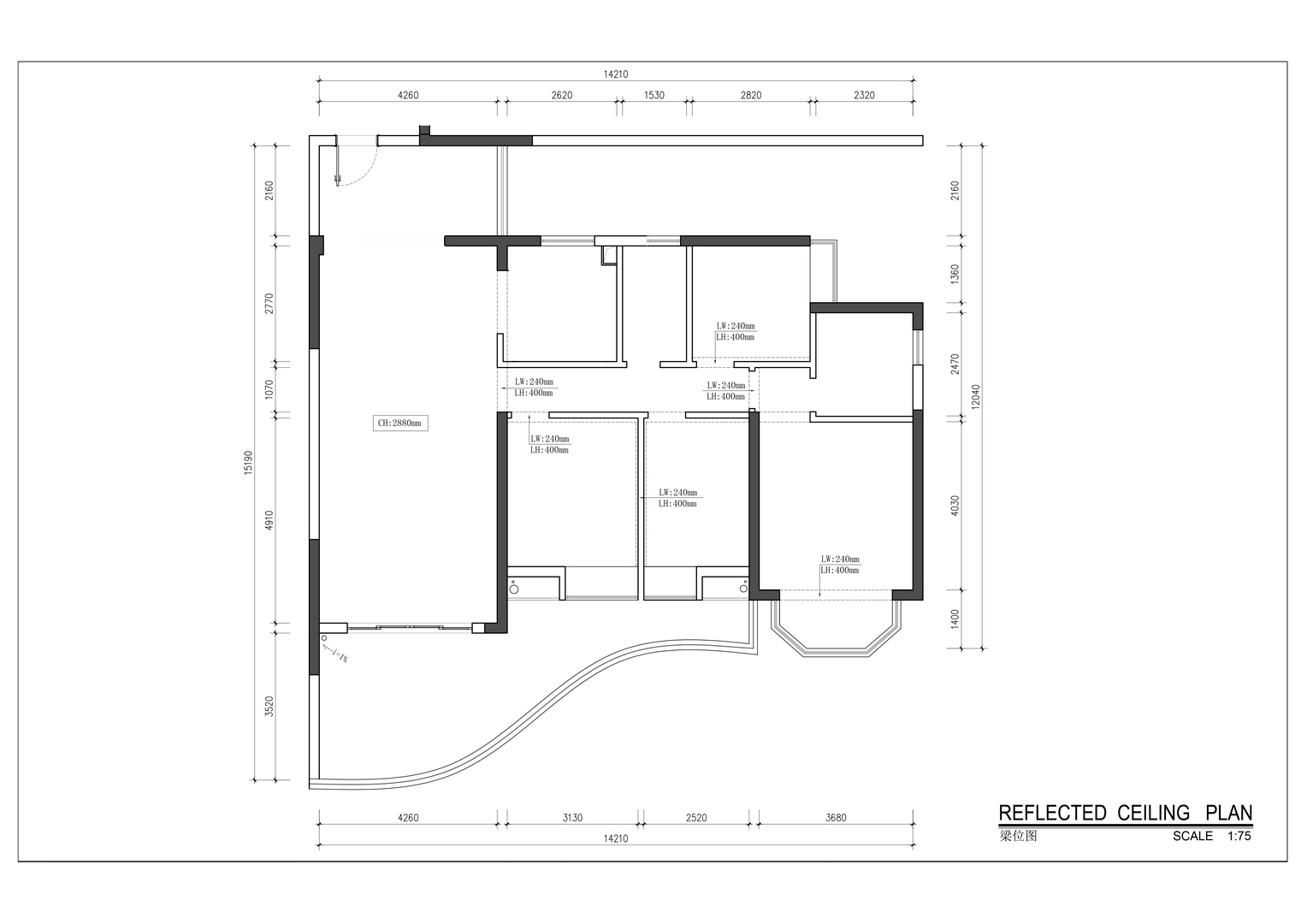 东湖花园-现代风格案例-180平米四居室装修效果图装修设计理念