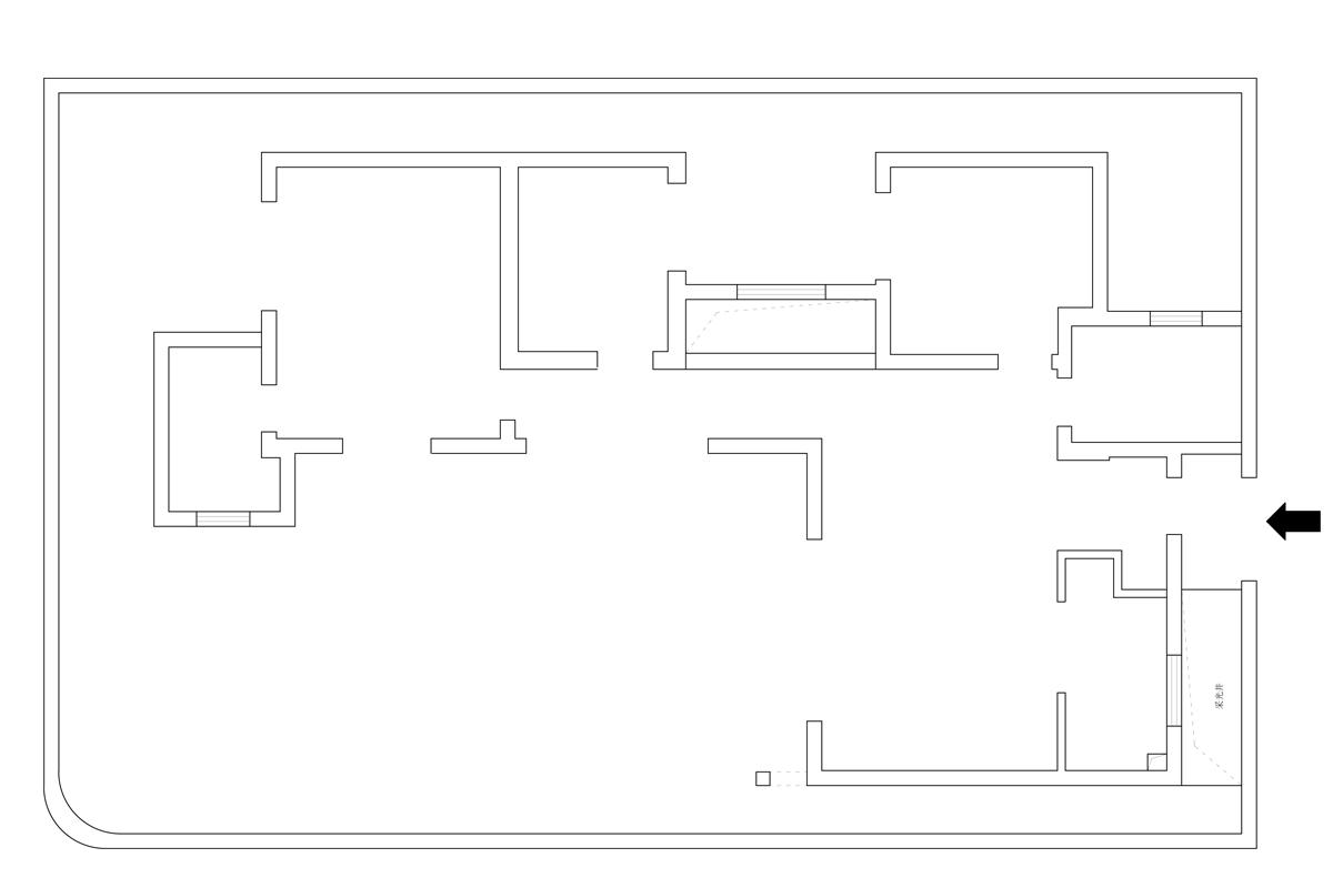 德宝方顶新中式风格105㎡四合院装修设计理念
