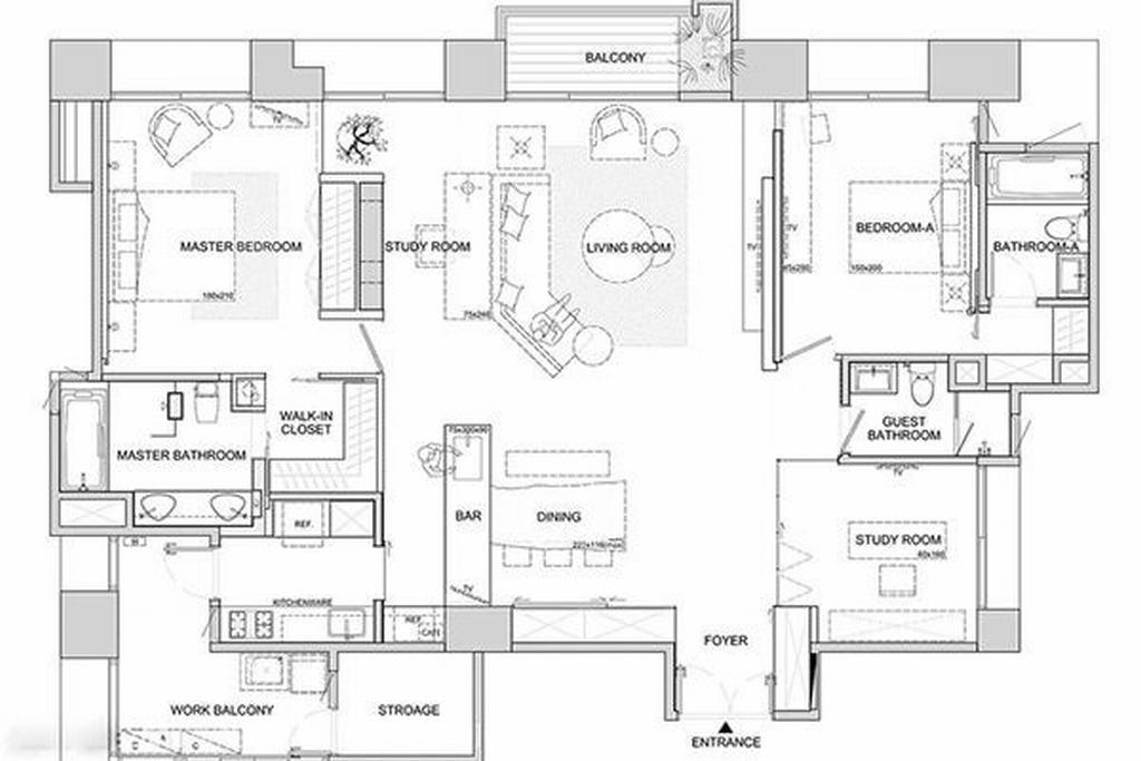 远洋华墅-美式-300平米装修设计理念