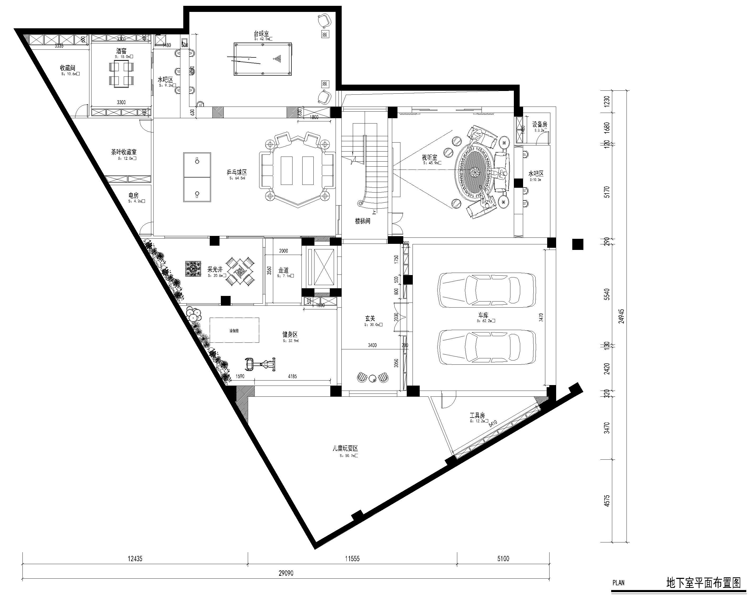 南城御花苑天珺湾装修案例 1500㎡现代风格独栋别墅装修效果图装修设计理念