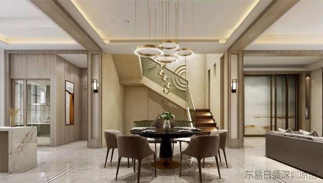 160平米现代奢华风格装修效果图分享-深圳别墅装修公司哪家好
