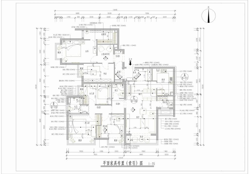中信城-美式-140平米装修设计理念