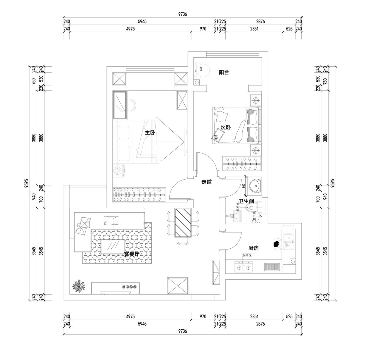 世纪东城英式田园风格89平普通住宅装修设计理念