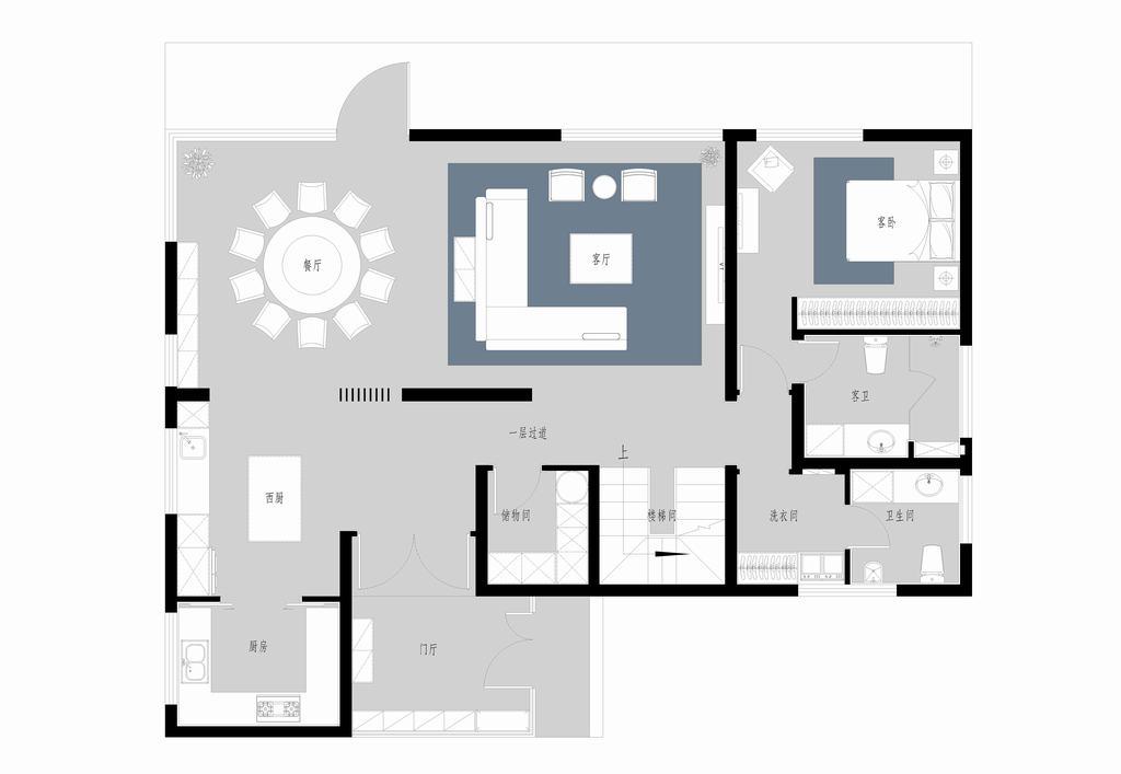海棠-现代简约-400平米装修设计理念