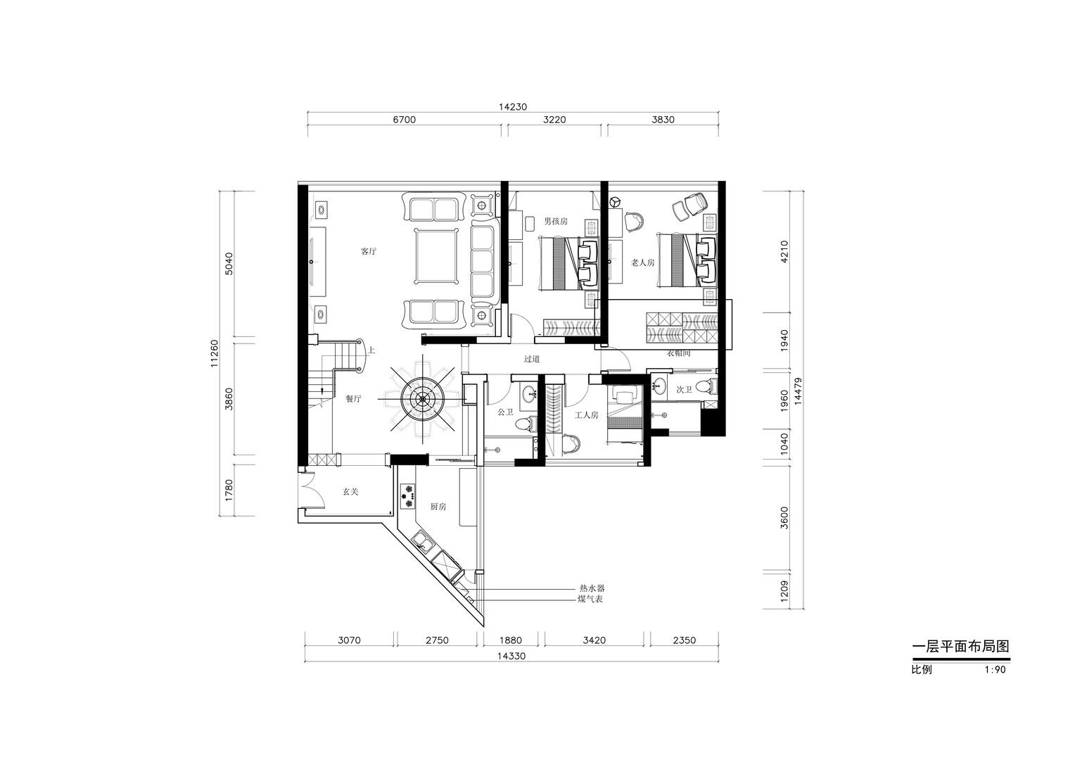 鸿业苑-现代奢华风格案例-220平米四居室装修效果图装修设计理念