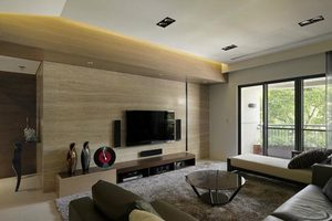 电视背景墙之木质电视背景墙的选择