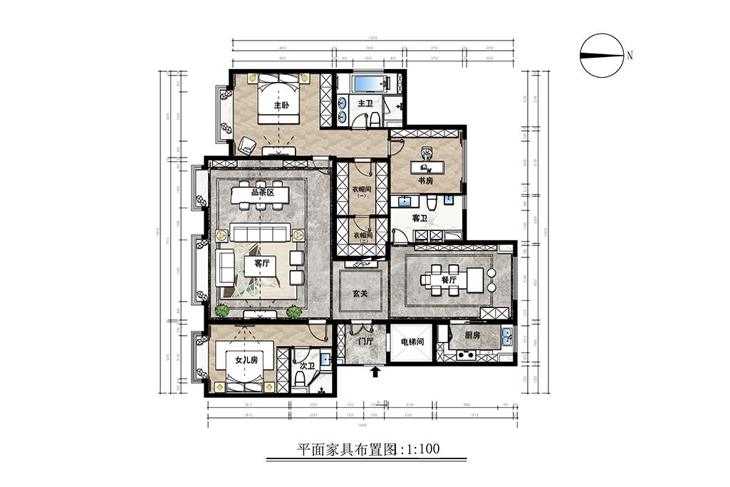 中国玺-现代中式风格-218㎡装修设计理念