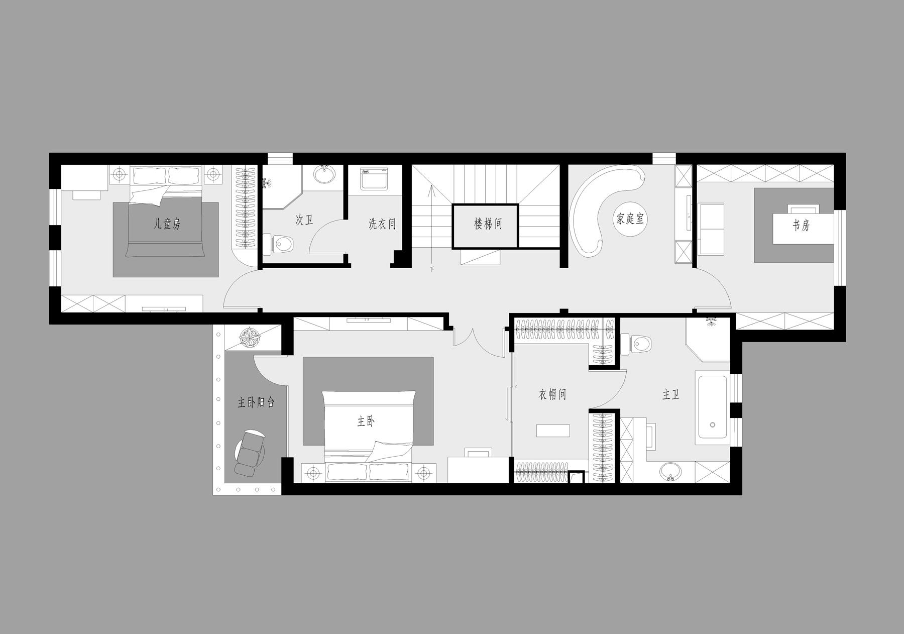 香江别墅-美式乡村-400平米装修设计理念