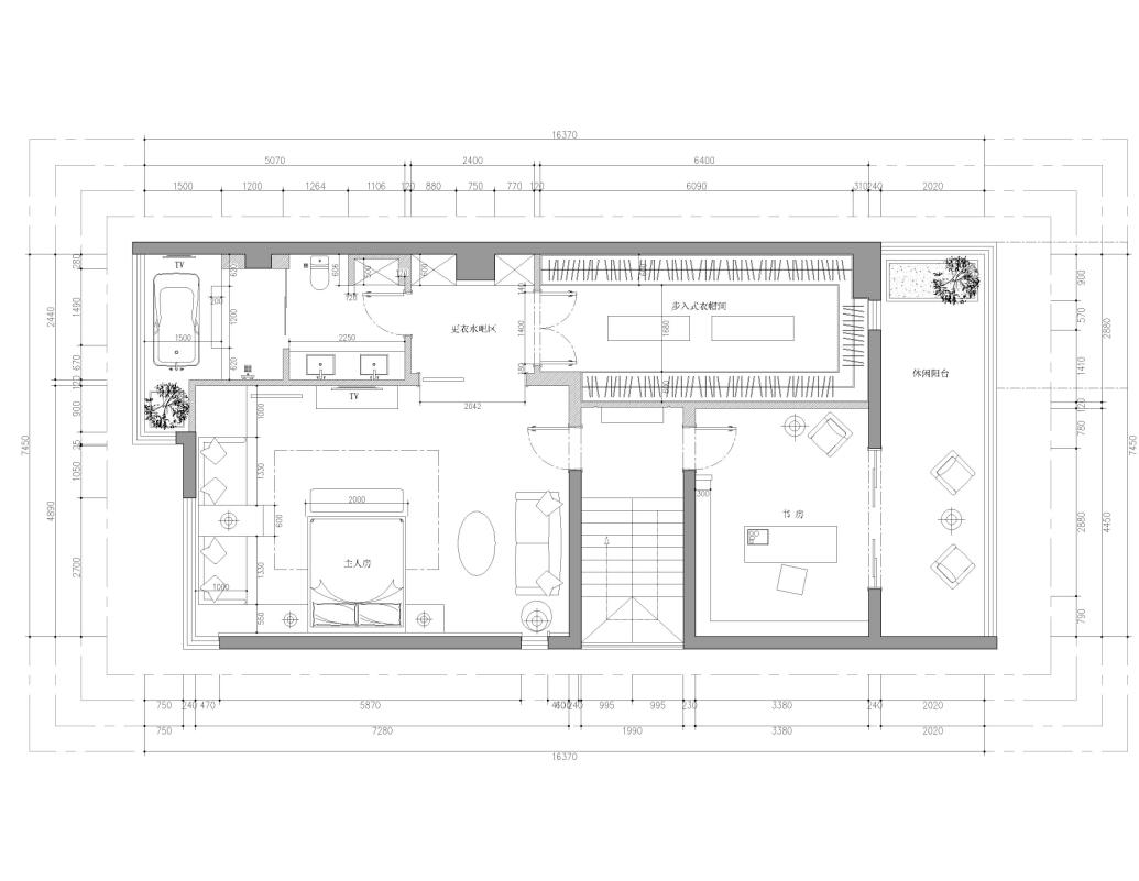 美的城460平米新中式风格装修设计理念
