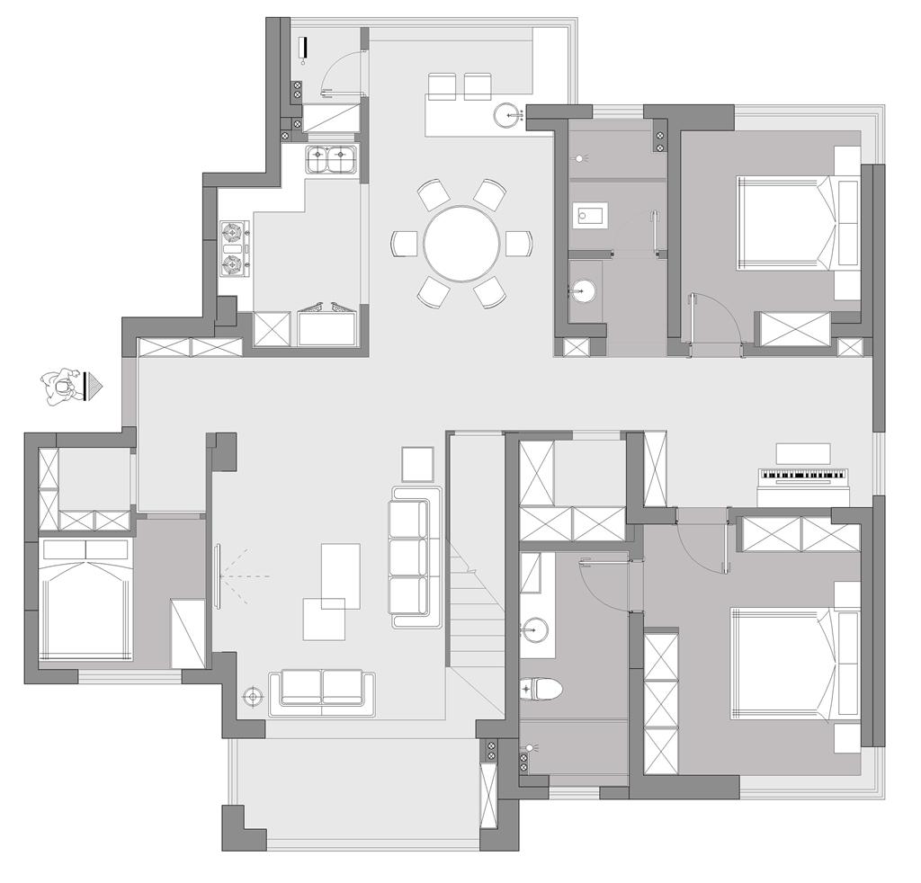 恒伟.西雅韵350m/2现代性状style复式装潢策划案例装潢策划愿景