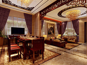 锦绣山河-280㎡-中式-四居室户型解析