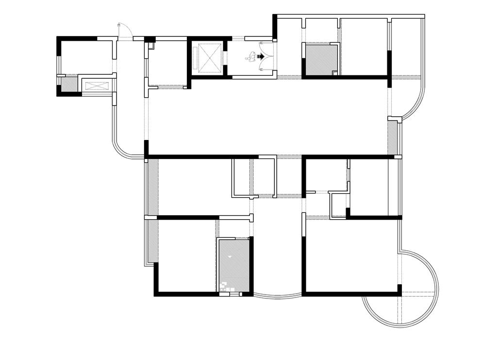 东方名苑303㎡混搭风格平层装修设计理念