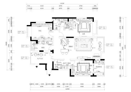 中央特区北欧风格135平平层装修设计理念