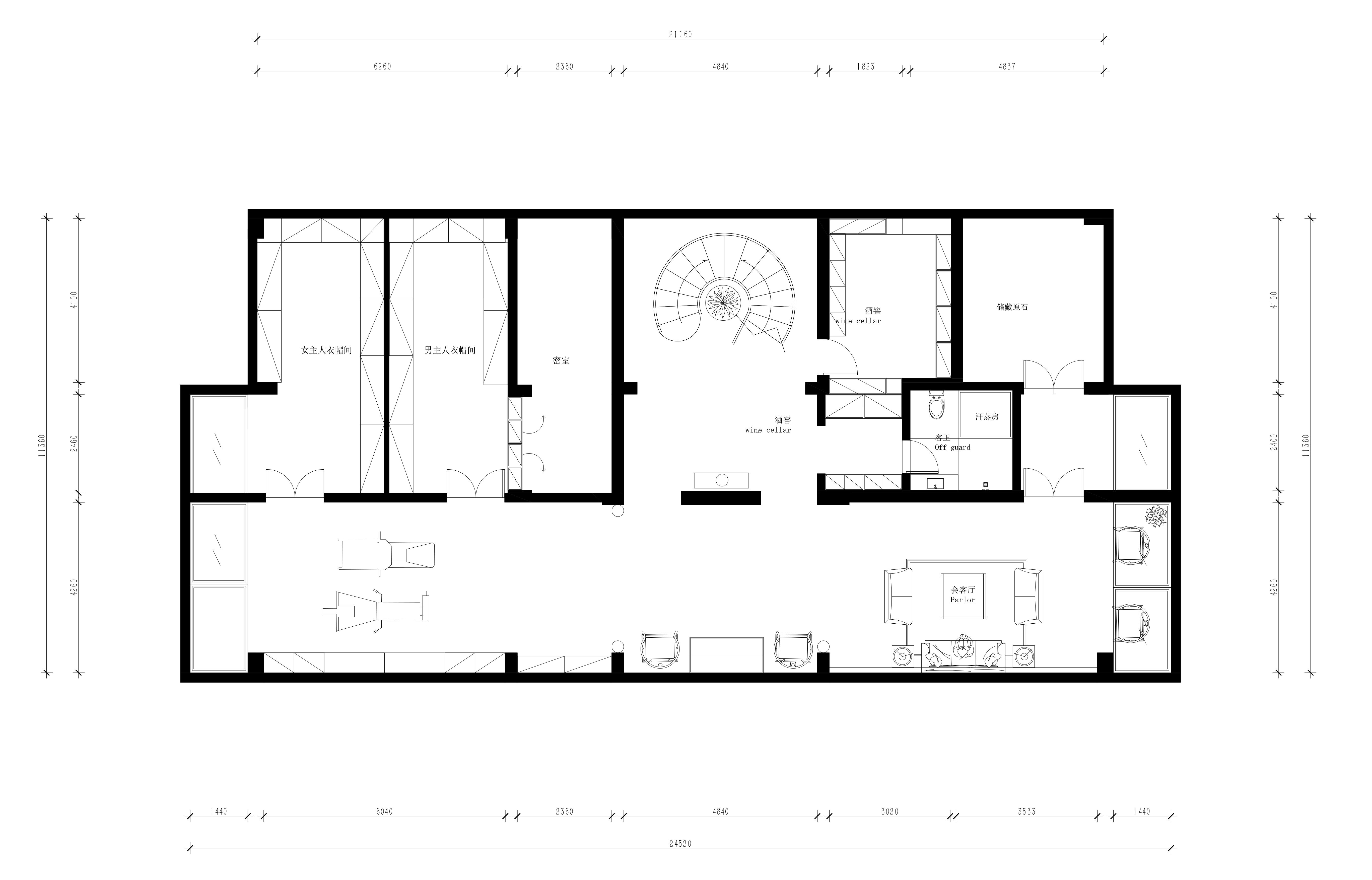 盘锦自建别墅868平新中式风格装修效果图装修设计理念