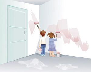 室内装修中如何粉刷旧墙面!