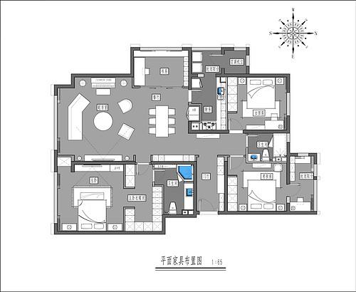 朱雀门-180平米-现代轻奢装修设计理念