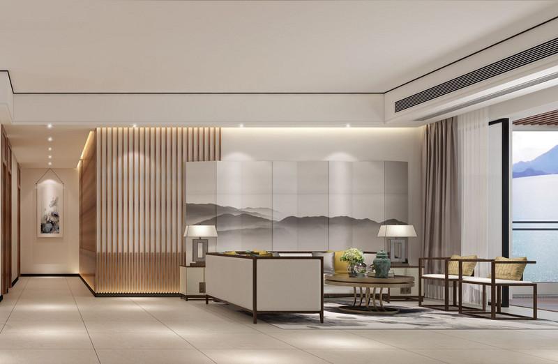 室内设计师新中式客厅设计