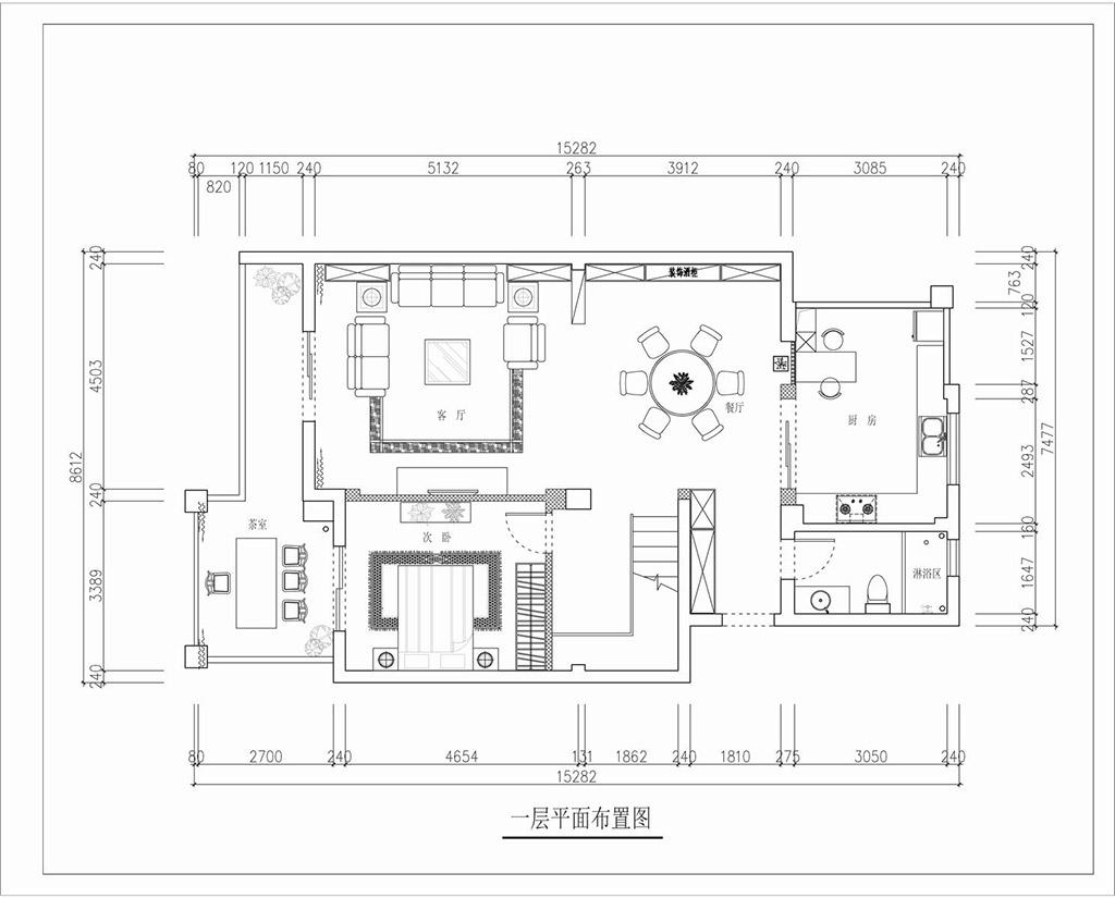 虎门碧桂园装修案例 207㎡新中式别墅实景图装修设计理念