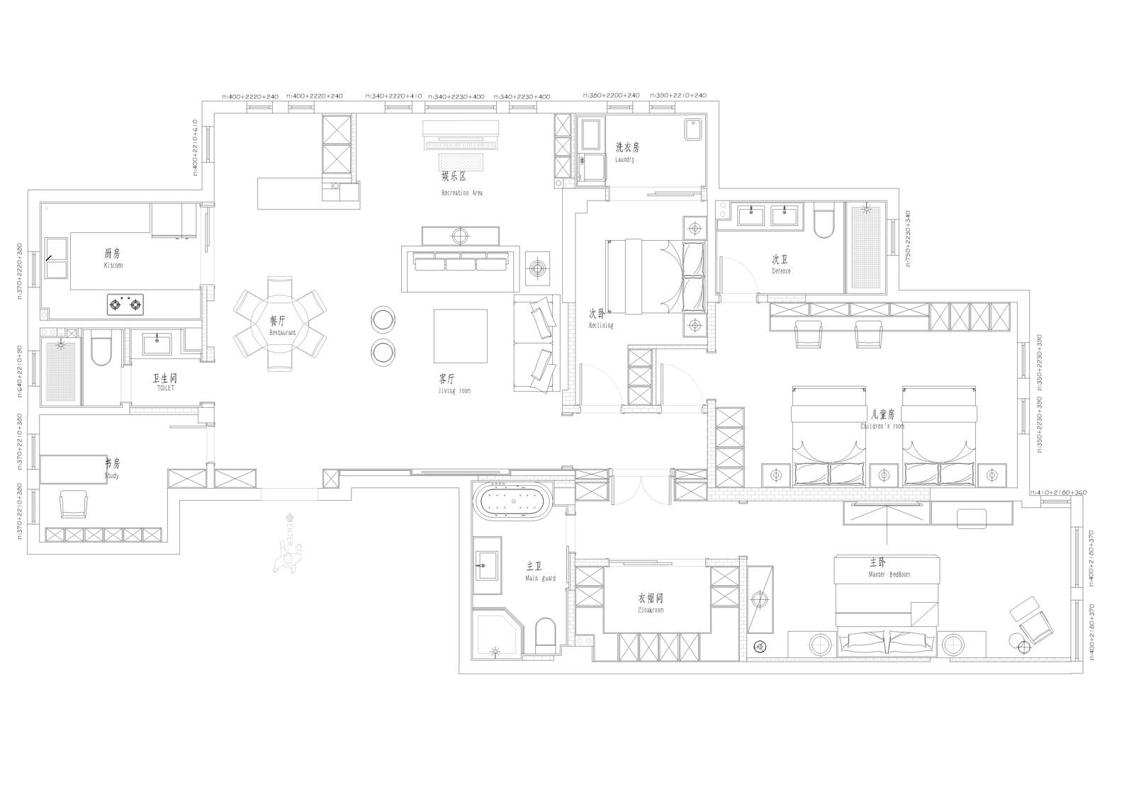 维科上院-191平-现代简约装修设计理念