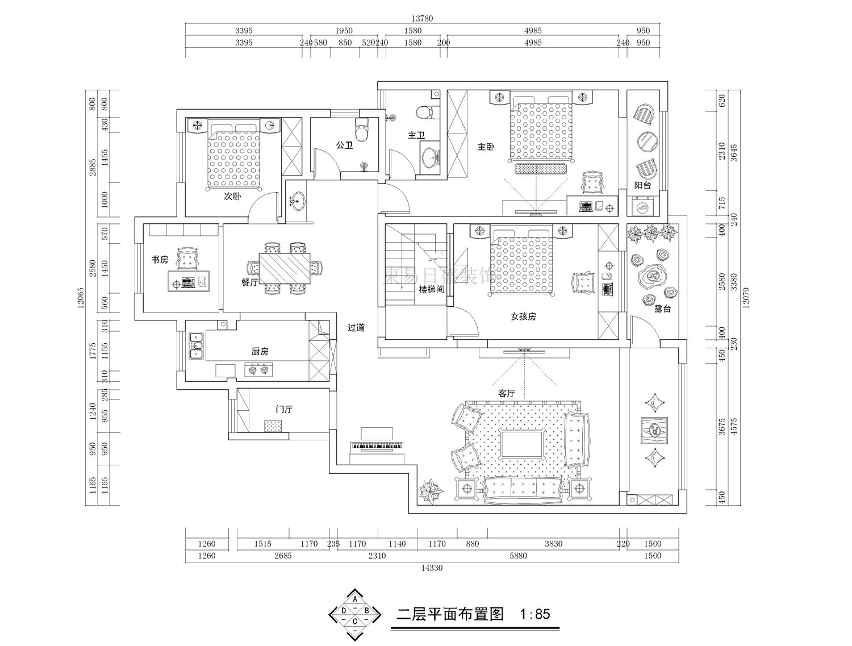 正商玉兰谷美式220平跃层装修设计理念