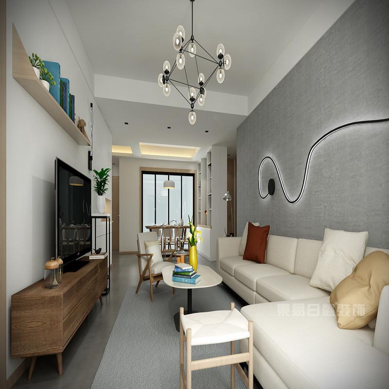 欧式美式简约小户型客厅装修效果图片