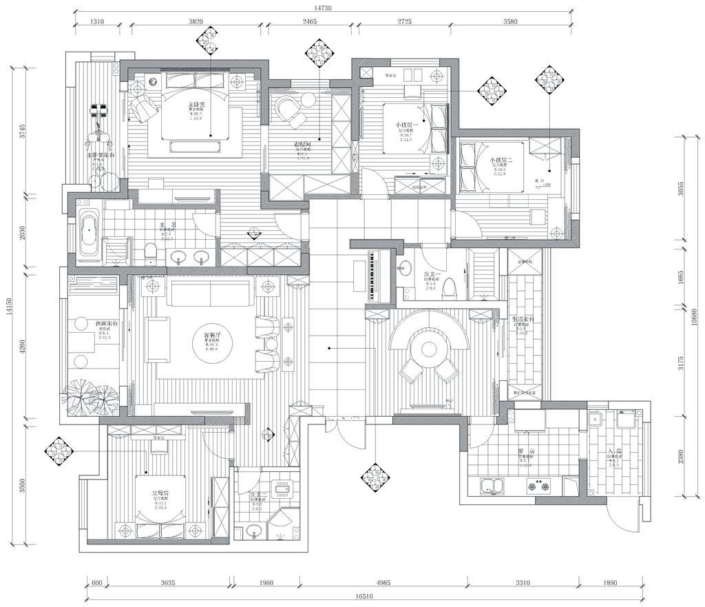 百瑞景三期人文自然风格装修效果图装修设计理念