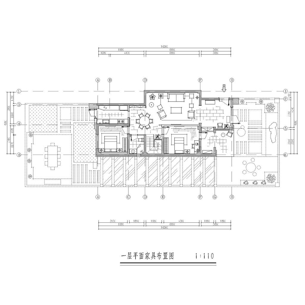 保利两河森林134㎡别墅东南亚风格效果图装修设计理念